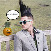 Annoying orange mohawk by ninj9