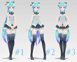[MMD] 3 Poses Part 2 [DL] by MinuzNegative
