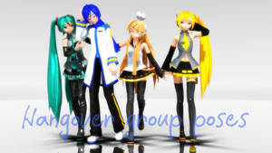 [MMD] Hangover group poses [Download] by MinuzNegative