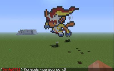 Infernape Pixel art by Gou-chan