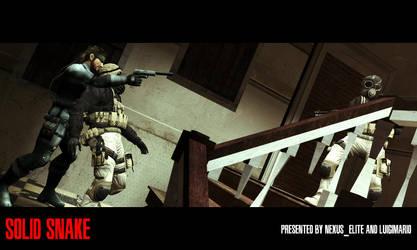 Solid Snake promotional shot by MrWhitefolks