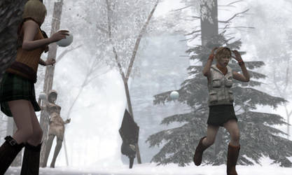 Survival Horror Snowball Fight by MrWhitefolks