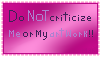 Do NOT Criticize Me Stamp by Nerdy-pixel-girl