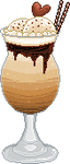 Iced Coffee With Icecream Pixel by Nerdy-pixel-girl