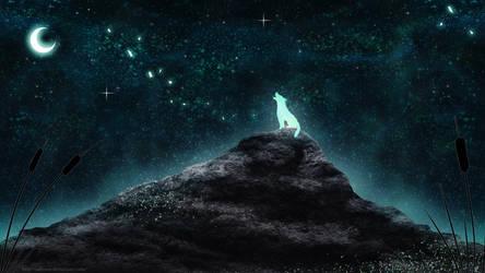 Celestial Wolf by Sabinzie