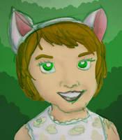 Catgirl - green by gaudog