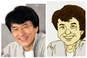 Jackie Chan Caricature by gaudog