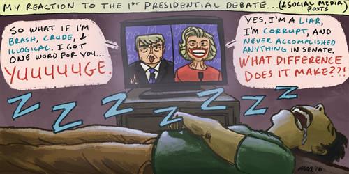 2016 1st Presidential Debate by gaudog