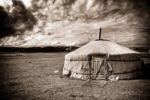 Yurt in Mongolia by MichalDz