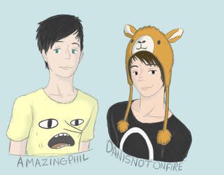 Phil and Dan by CreatorCakes