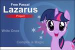 Lazarus Twilight Sparkle custom Splash Screen by Marcsello