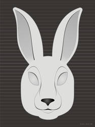 Monochrome Rabbit Face by AgentGB