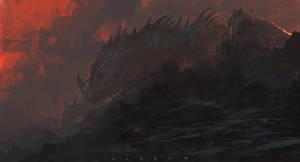 Forgotten dragon by SaeedRamez