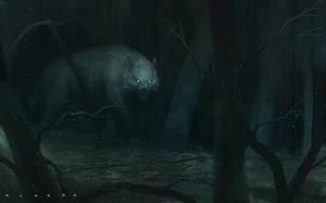 White wolf by SaeedRamez