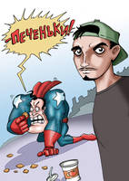 Leshka-man vs. David Blaine by AceKomiks