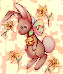 Floating flowers and floating rabbits by X--O