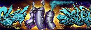 Peso graffiti BEN N PESO Collab by P-E-S-O