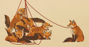 Foxes on Leashes by Espherio