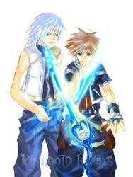 KH2_Riku and Sora by egosun