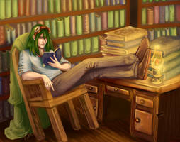 Commission: Library by MagicalKaleidoscope