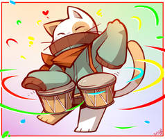 Charlie Bongo Cat! by BunnyChan21