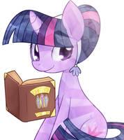 Shiny Bookworm Pony by Bukoya-Star