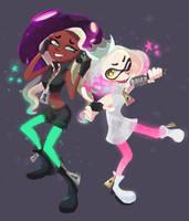 Splatoon - Marina And Pearl by Bukoya-Star