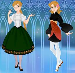 Carmen and Rain at the Cultural Fair by Sword-wielding-gamer