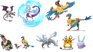 Pokemon Vectors by Zeefster
