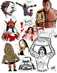 WWEsketchdump by vashperado