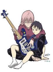 Haruko and Naota by vashperado