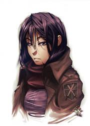 Mikasa Ackerman by vashperado