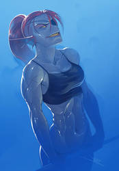 Undyne The Undying by vashperado