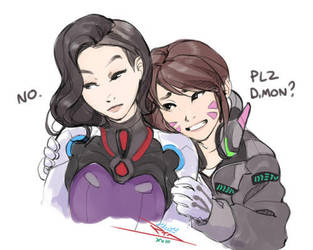 dva and dmon by vashperado