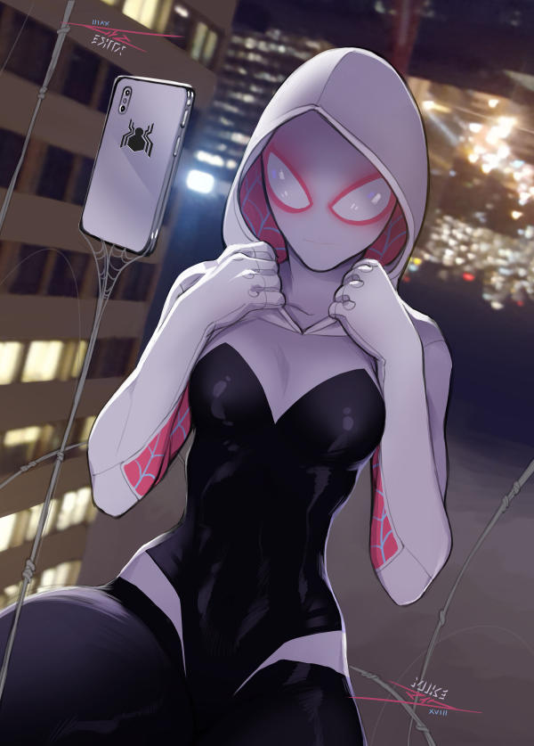 Spider Gwen (mask on) by vashperado