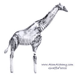 Computer sketching project Giraffe subject by AtomAlchemy