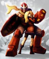 Protoman and Kalinka by Calvinclyke