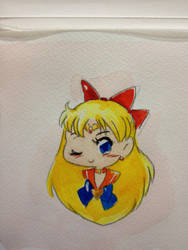 Shoujo Style Mini Sailor Venus Watercolor by Nattosoup