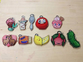 2013 Acrylic Charm Set by Nattosoup