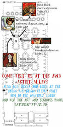 Anime Weekend Atlanta Artist Alley Map by Nattosoup