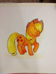 MLP: FIM Apple Jack Watercolor by Nattosoup