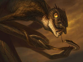Yig - Father of Serpents by faxtar
