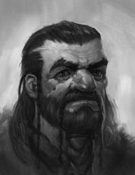 Angus Sketch-Beard II by faxtar