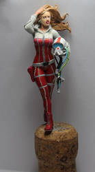 70mm resin figure Red Ace (WIP) by mlceates