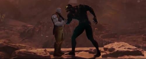 Thanos and Venom by AutobotShadedown