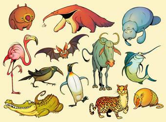 Twelve Daily Animals by einen