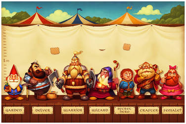 Seven Dwarves by einen