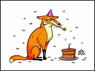 The Birthday Fox by einen