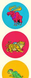 Five Color Animals by einen