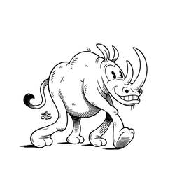 19th of Rhinoary: Old Cartoon by einen
